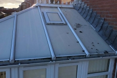 Conservatory roof needing cleaned
